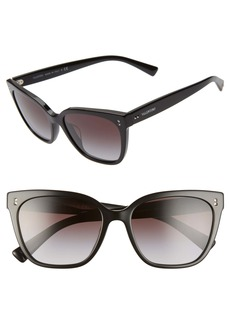 Valentino 55mm Gradient Square Cat Eye Sunglasses