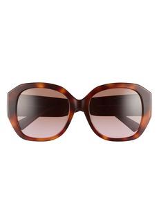 Valentino 56mm VLOGO Round Sunglasses