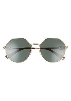 Valentino 57mm Geometric Sunglasses