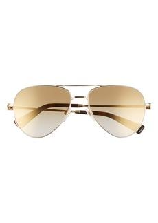 Valentino 57mm Polarized Aviator Sunglasses