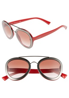 Valentino 58mm Round Sunglasses