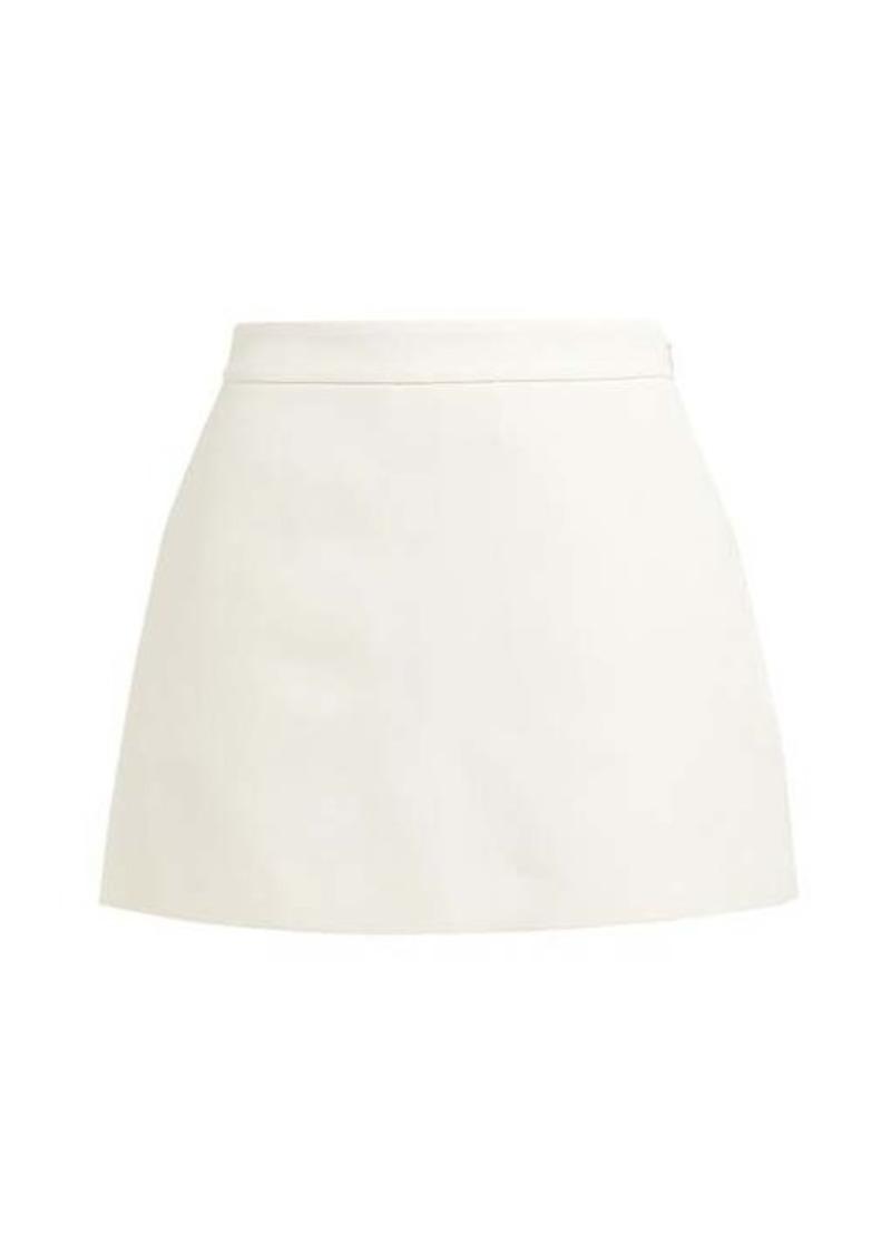 Valentino A-line wool-blend mini skorts