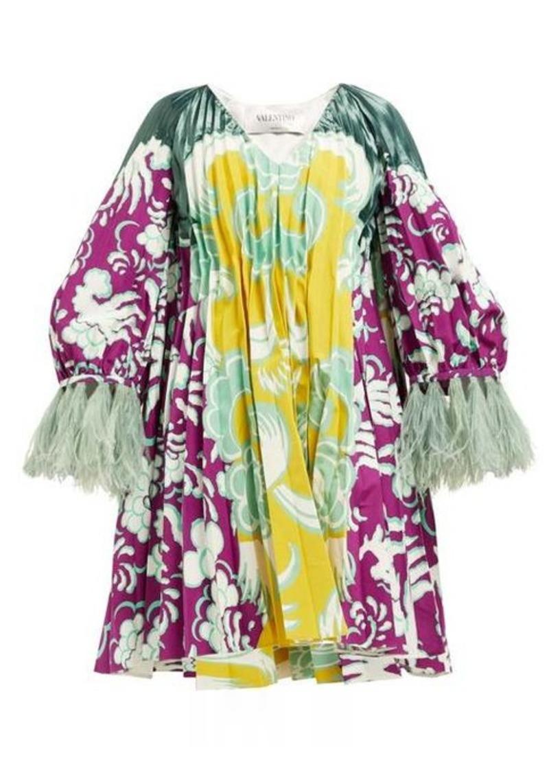 Valentino Abstract-print cotton blend-faille mini dress