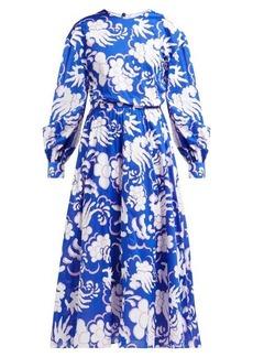 Valentino Abstract-print cotton midi dress