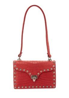 Valentino Garavani Alligator-Embossed Shoulder Bag