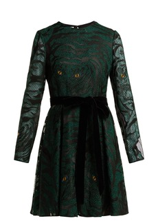 Valentino Animal eye and print-embroidered tulle dress