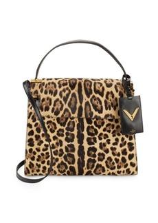 VALENTINO GARAVANI Animal-Inspired Fur Shoulder Bag