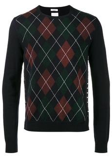 Valentino argyle crew neck sweater