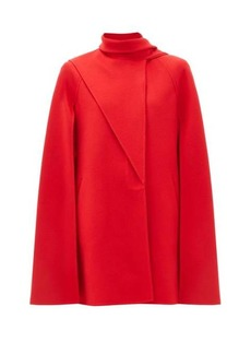 Valentino Asymmetric-fold wool-blend cape