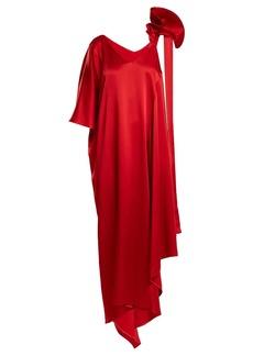 Valentino Asymmetric ruffled-shoulder gown