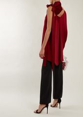 Valentino Asymmetric ruffled-shoulder top