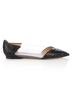 Valentino B-Drape leather flats