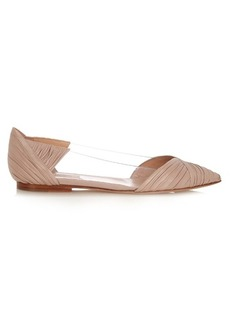 Valentino B-Drape point-toe leather flats