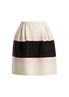 Valentino Baiadera-stripe silk crepe skirt