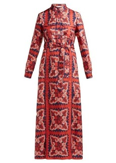 Valentino Bandana-print silk dress