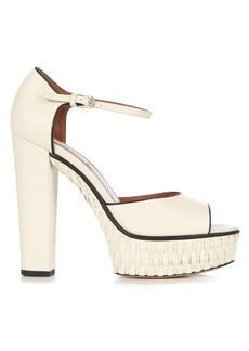 Valentino Baracoa wicker platform sandals