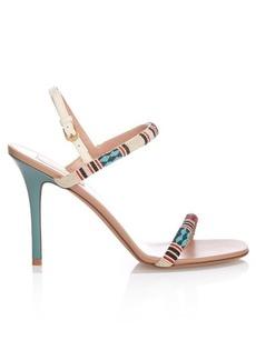 Valentino Bead-embellished leather sandals