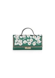 VALENTINO GARAVANI Beaded Leather Clutch