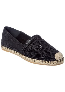 Valentino Beaded Leather Espadrille