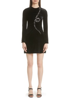 Valentino Beaded Snake Velvet Dress