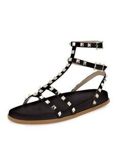 Valentino Bedrock Rockstud Flat Sandal