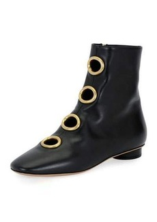 Valentino Bit Hoop Leather Bootie