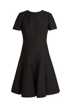 Valentino Black wool and silk-blend dress