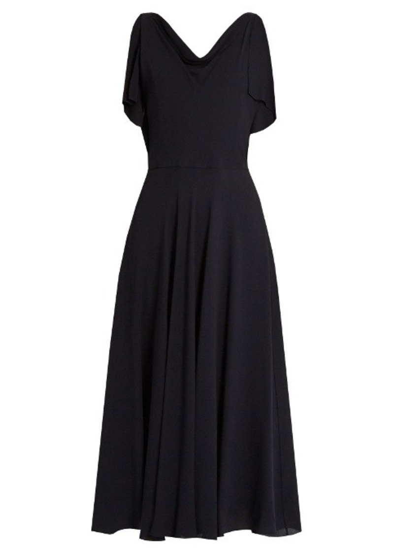 Valentino Boat-neck silk-georgette midi dress