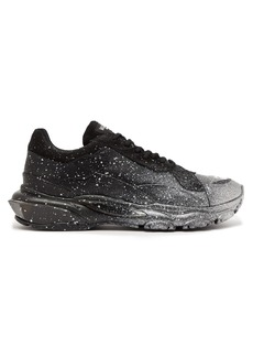 Valentino Bounce raised-sole low-top leather trainers