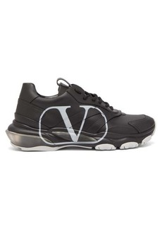 Valentino Bounce V-logo leather trainers