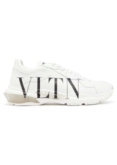 Valentino Bounce VLTN-print raised-sole trainers