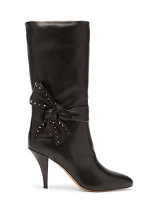 Valentino Bow-embellished leather boots