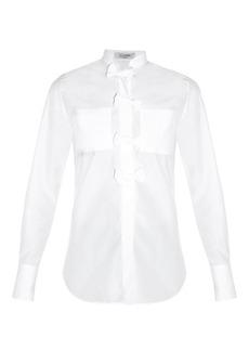 Valentino Bow-front poplin shirt