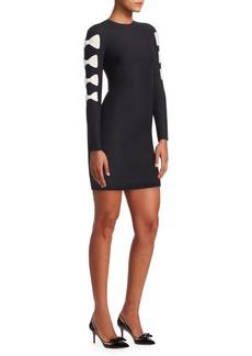 Valentino Bow-Sleeve Bodycon Dress