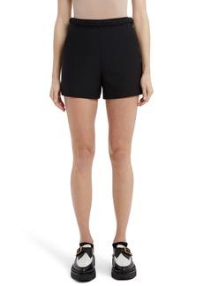 Valentino Braided Detail High Waist Shorts