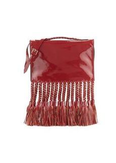 Valentino Braided Tassel Leather Clutch/Shoulder Bag