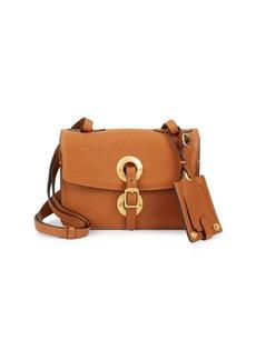 Valentino Garavani Buckle Leather Shoulder Bag