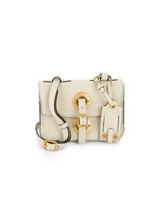 VALENTINO GARAVANI Buckle-Strap Leather Shoulder Bag