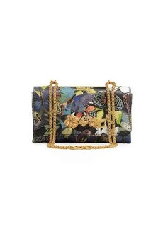 Valentino Butterfly Mixed-Media Shoulder Bag