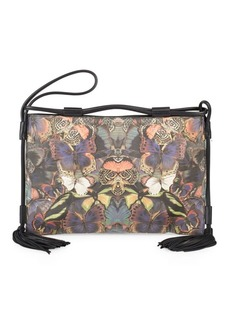 VALENTINO GARAVANI Butterfly-Print Wristlet Bag