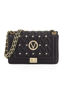 Valentino By Mario Valentino Alice D Studded Quilted Sauvage Leather Shoulder Bag