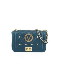 Valentino By Mario Valentino Beatriz Studs Quilted Sauvage Leather Shoulder Bag