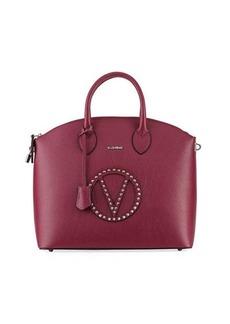Valentino By Mario Valentino Bravia Rock Dollaro Leather Stud Satchel Bag