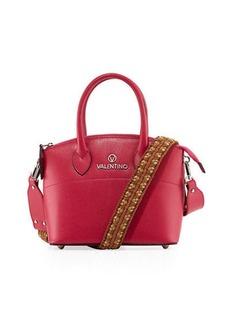 Valentino By Mario Valentino Bravia Saffiano Leather Woven Strap Mini Tote Bag