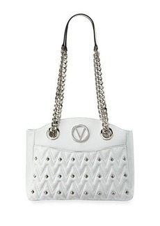 Valentino By Mario Valentino Camelie D Stud Quilted Sauvage Leather Shoulder Bag