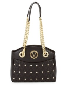 Valentino by Mario Valentino Camelie Studded Leather Shoulder Bag