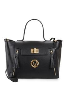 Valentino by Mario Valentino Camilla Tasseled Leather Satchel