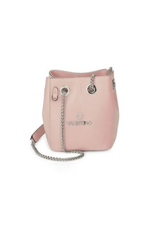 Valentino by Mario Valentino Chain Strap Leather Bucket Bag