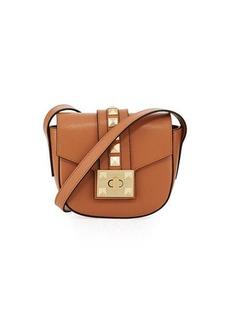 Valentino By Mario Valentino Claudine Palmellato Leather Saddle Bag
