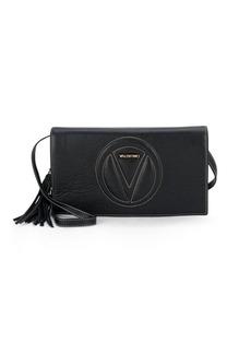 Valentino by Mario Valentino Lena Concealed Snap Leather Crossbody Bag
